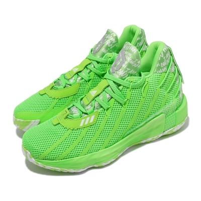 adidas 籃球鞋Dame 7 GCA 運動 男鞋 海外限定 愛迪達 避震 包覆 明星款 綠 白 FY2797