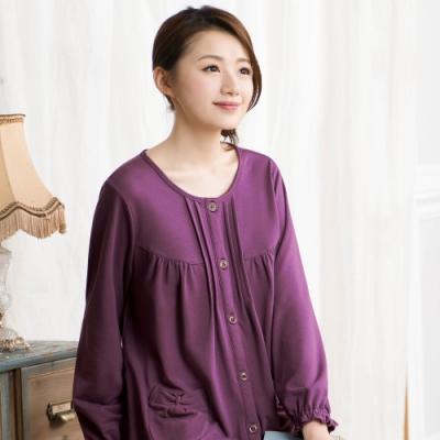 華歌爾睡衣-咖啡炭 M-L 長袖睡衣褲(紫)居家休閒