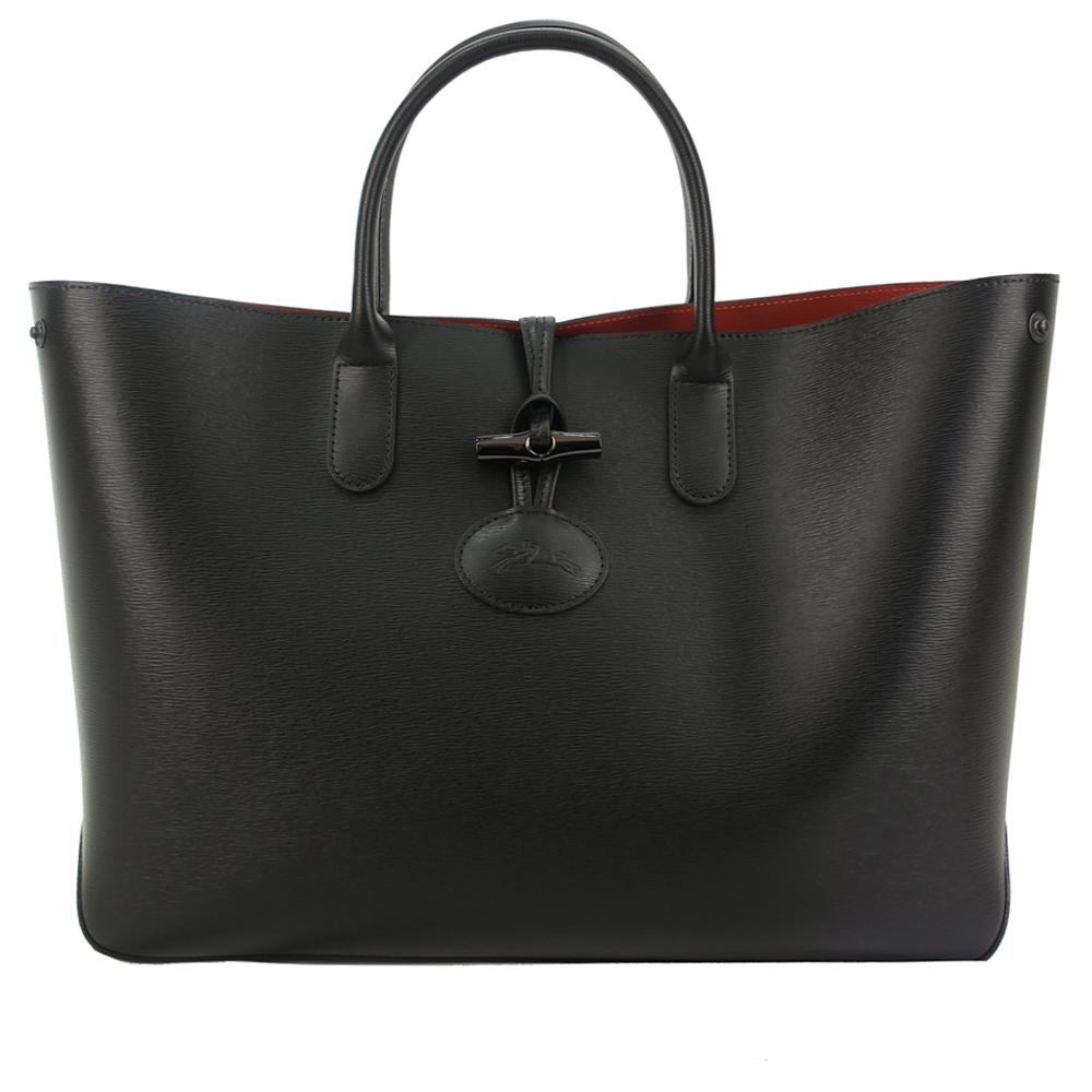Longchamp ROSEAU系列托特包-黑/大