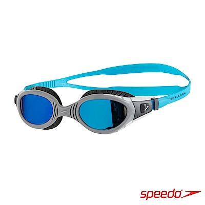 SPEEDO 成人 運動泳鏡 Futura Biofuse 鏡面 黑灰