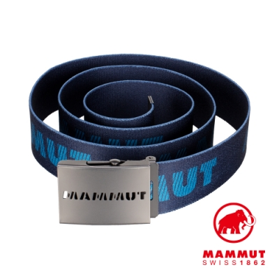 【Mammut 長毛象】Mammut Logo Belt 金屬LOGO印花編織腰帶 海洋藍/藍寶石 #1192-00070
