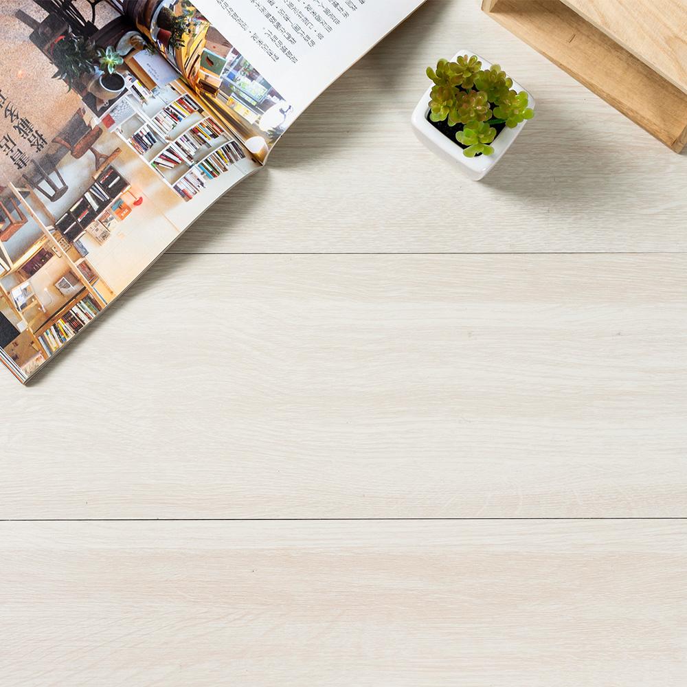樂嫚妮 (160片)DIY塑膠PVC仿木紋DIY地板貼 6.9坪 乳白白蠟木-贈壁貼