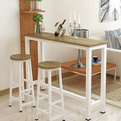 【Effect】輕奢加厚鋼木吧檯桌椅組(1桌2椅/三款任選/120*40*100cm)