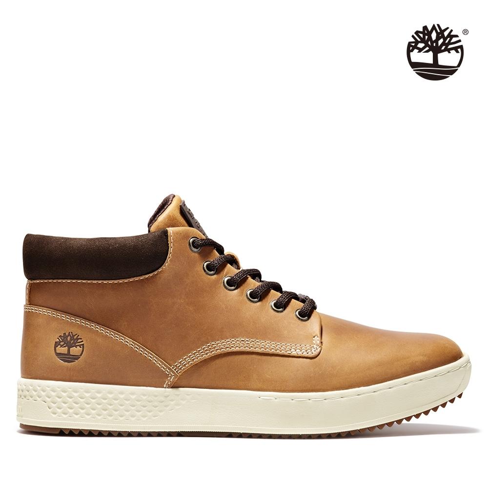 Timberland 男款小麥色全粒面皮革樹型印花牛津鞋|A1S5O