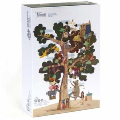 西班牙Londji 歡樂樹屋雙面拼圖