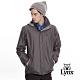 【Lynx Golf】男款防風防水透濕連帽格紋配布長袖外套-深灰色 product thumbnail 2