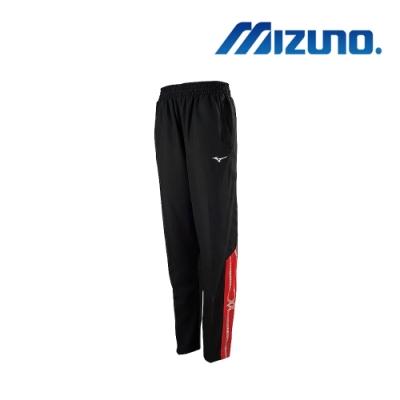 Mizuno美津濃 男平織運動長褲 黑x紅 32TD958596
