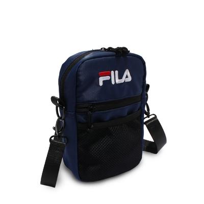 Fila 斜背包 Pocket Shoulder Bag 斐樂 外出 輕便 手機包 穿搭 藍 黑 BMV7009NV