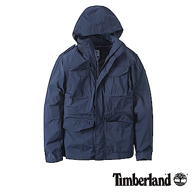 Timberland 男款暗藍色可收納 Cordura野戰夾克