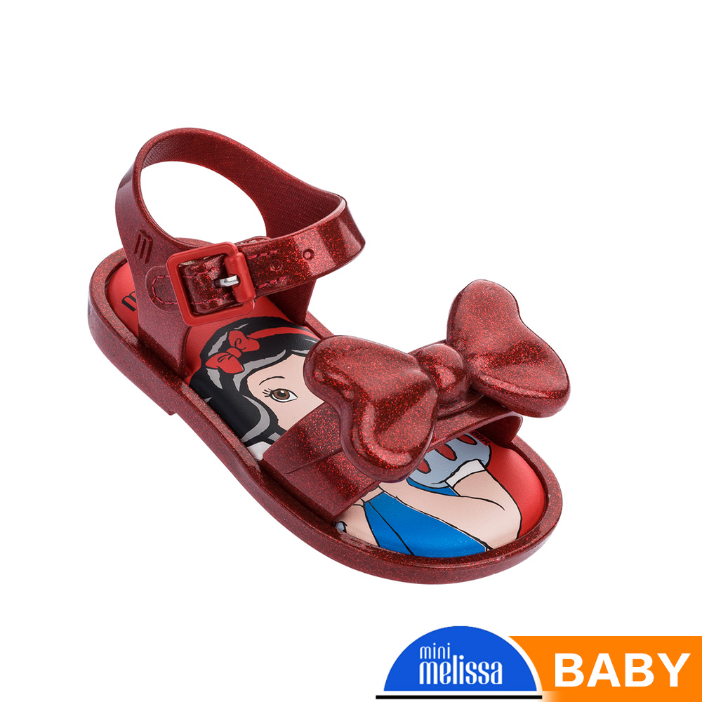 Melissa 白雪公主蝴蝶結造型涼鞋-寶寶款-酒紅