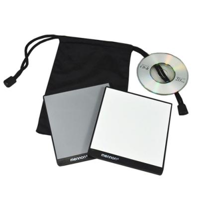 美儂Mennon迷你18%灰卡白平衡卡套裝GC-min(2片裝;附教學光碟CD;尺寸12x12cm)18灰卡gray card white balance