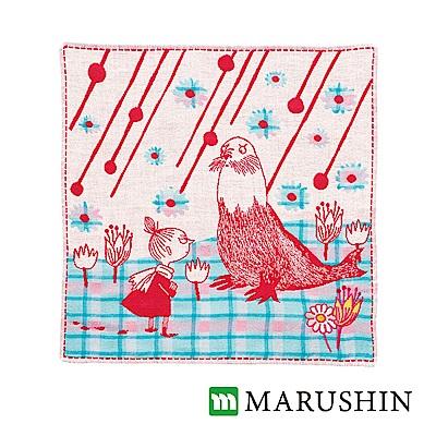 [活動]日本丸真Moomin今治三層紗布方巾-日常兩人