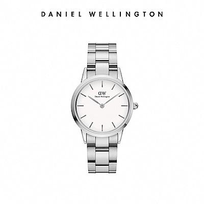 DW 官方直營 Iconic Link 28mm精鋼錶-耀目亮銀 DW手錶 女錶
