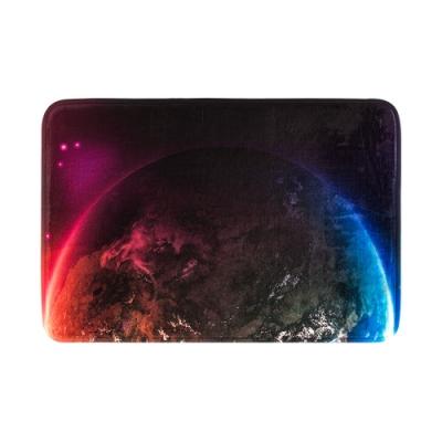樂嫚妮 法蘭絨吸水防滑地墊-夢想星球