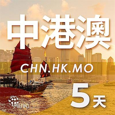 【PEKO】中港澳上網卡 5日高速4G上網 無限量吃到飽 優良品質高評價 快速到貨