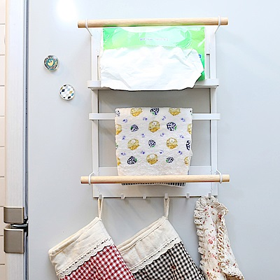 澄境 磁吸式四層收納置物冰箱架(1入)