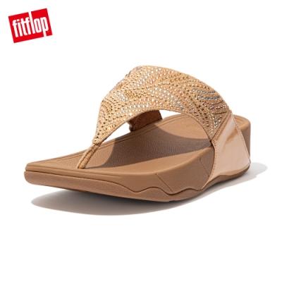FitFlop LULU CRYSTAL FEATHER TOE POST SANDALS 水鑽夾腳涼鞋 女(胭脂裸膚)