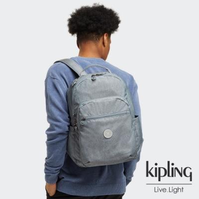 Kipling 個性淺灰藍機能手提後背包-SEOUL