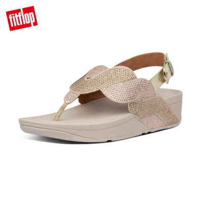 FitFlop PAISLEY ROPE BACK-STRAP SANDALS後帶涼鞋-女(金鉑色)
