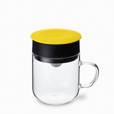 【PO:Selected】丹麥研磨過濾咖啡玻璃杯240ml (黃)