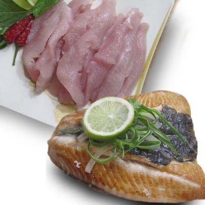 【摩肯嚴選】頂級無毒無刺 虱目魚肚180g*3包+魚柳300g*2包 雙拼組/盒x1