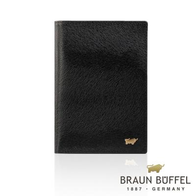 BRAUN BUFFEL - 奧菲莉亞P系列3卡護照夾 - 深黑