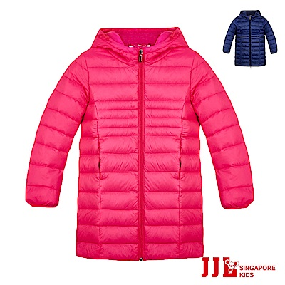 JJLKIDS 經典長版超保暖高填充羽絨連帽外套(2色)
