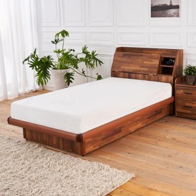 時尚屋  亞維斯3.5尺積層木床箱型加大單人後掀床(不含床頭櫃-床墊)