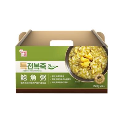 韓味不二【韓國原裝】鮑魚粥禮盒(270g*6入/盒)