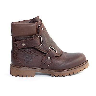 Timberland 男款咖啡色粒面皮革休閒靴 | A1JQP931