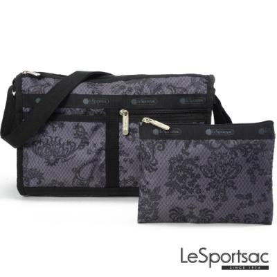 LeSportsac - Standard雙口袋斜背包-附化妝包 (法式宮廷)