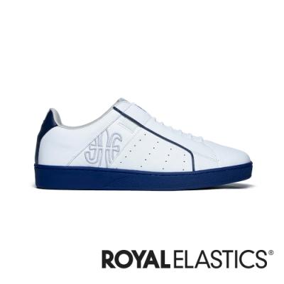 ROYAL ELASTICS Icon Genesis 白藍真皮運動休閒鞋 (男) 01901-005
