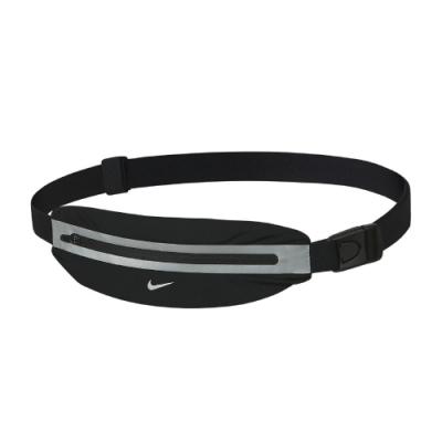 Nike 腰包 Running Slim Waistpack 路跑 輕便 小包 反光 長度可調 黑 銀 NRLA0082OS