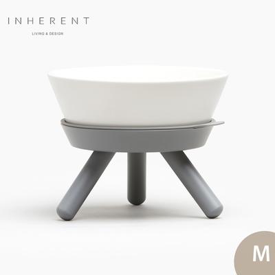 韓國Inherent Oreo 寵物低腳碗 寵物碗 寵物碗架 狗碗 M 大象灰