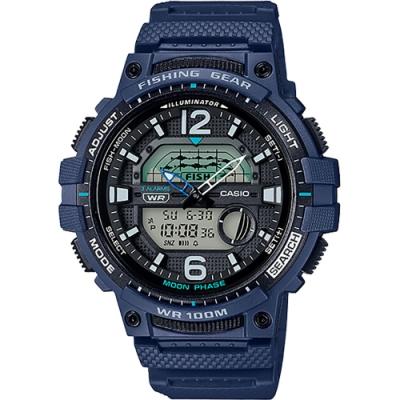 CASIO 卡西歐 釣魚專家 指針/數位手錶(WSC-1250H-2A)