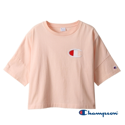 Champion Women s Logo短版Tee(粉紅色)