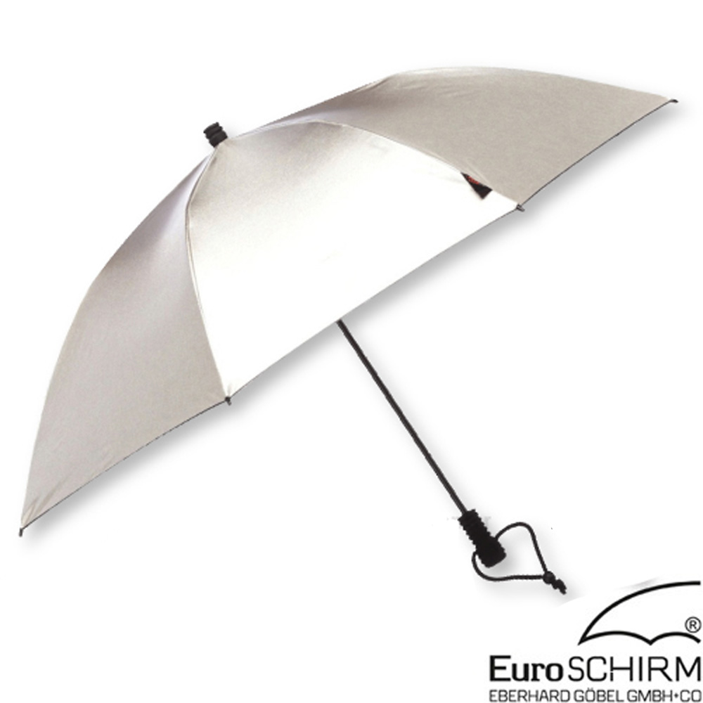 EuroSCHIRM SWING 徒步旅行輕量直傘.雨傘_銀