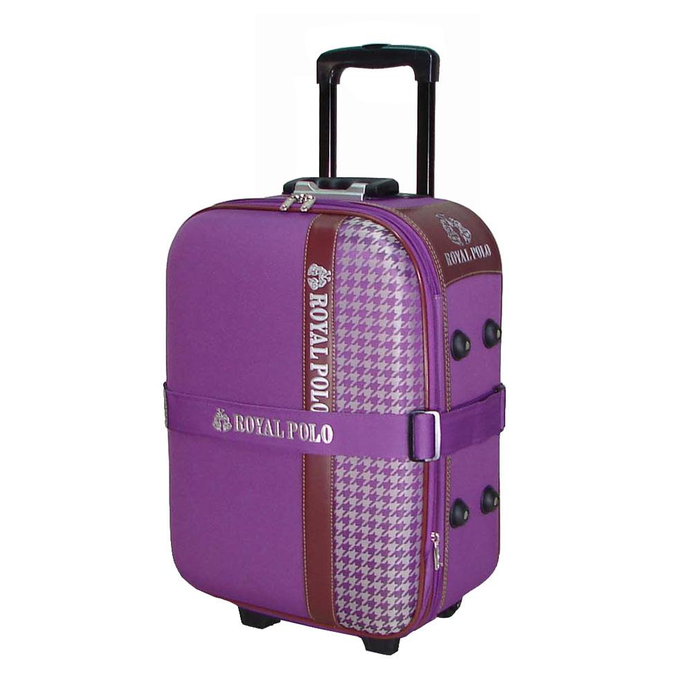 (ROYAL POLO皇家保羅)  千鳥紋2輪布箱加大行李箱/旅行箱 (25吋)