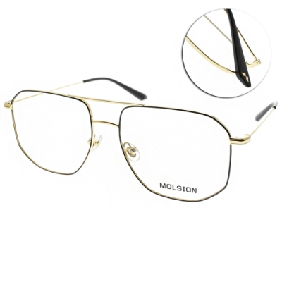 MOLSION 光學眼鏡 Angelababy代言 黑-金 #MJ7085 B12
