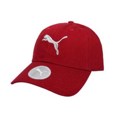 PUMA 基本系列棒球帽-帽子 防曬 遮陽 鴨舌帽 老帽 純棉 02241643 紅銀