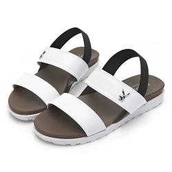 PLAYBOY 簡約素色一字涼拖鞋-白-Y629811