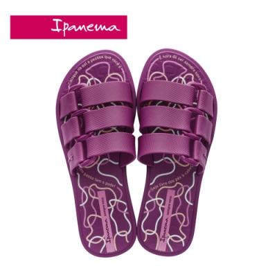 Ipanema BOLD PRINT造型印花一字拖-紫