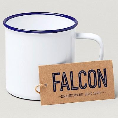 英國Falcon 獵鷹琺瑯 琺瑯馬克杯 水杯 350ml 藍白