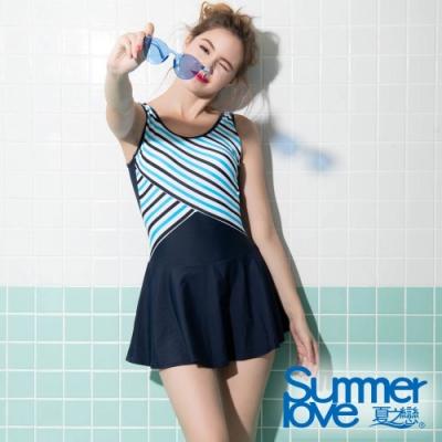 夏之戀SUMMERLOVE 大女連身帶裙泳衣