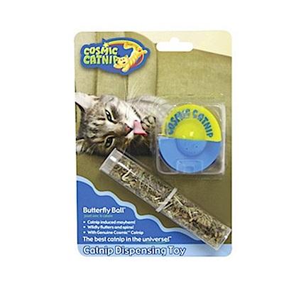 100%天然可填充塑膠貓草玩具 - 飛碟球