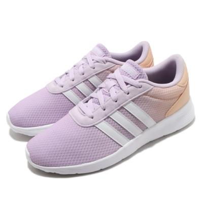 adidas 休閒鞋 Lite Racer 運動 女鞋 愛迪達 輕量 透氣 舒適 球鞋 穿搭 紫 橘 FX3976