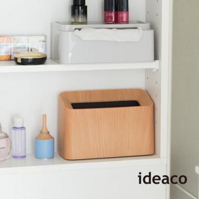 日本ideaco 橡木紋纖形斜口桌邊置物/垃圾桶-1.7L