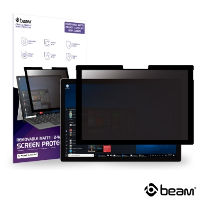 BEAM Microsoft Surface Pro 6 重覆黏貼式防窺螢幕保護貼