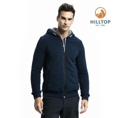 【hilltop山頂鳥】男款雙面穿刷毛外套H24MK0深藍