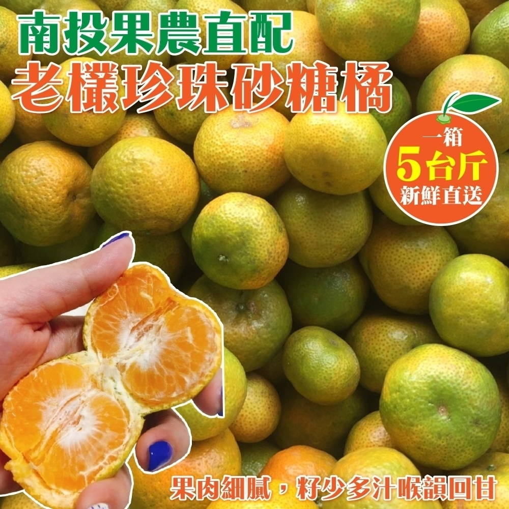 【果農直配】南投老欉珍珠砂糖橘禮盒5斤(春節禮盒)